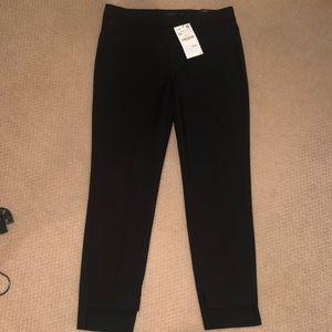 Zara black size 36 new asymmetric hem trouser
